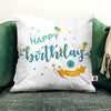 Shopify Happy Birthday  to you Printed Cushion Cover 12 x 12 Inch with filler