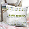 Shopify Happy Birthday Printed Cushion Cover 12 x 12 Inch with filler