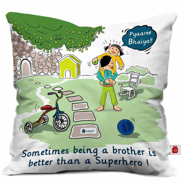 Indigifts Everlasting Bro-Sis Bond Multi Cushion Cover