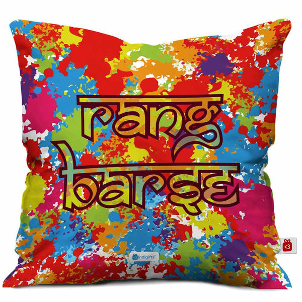 Rang Barse Cushion Cover  Indigifts - With Love Cushion Cover