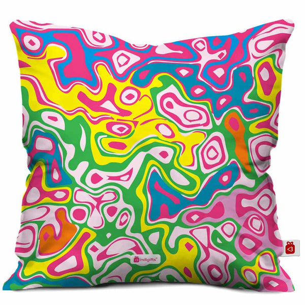 Joy of Colours Cushion Cover  Indigifts - With Love Cushion Cover