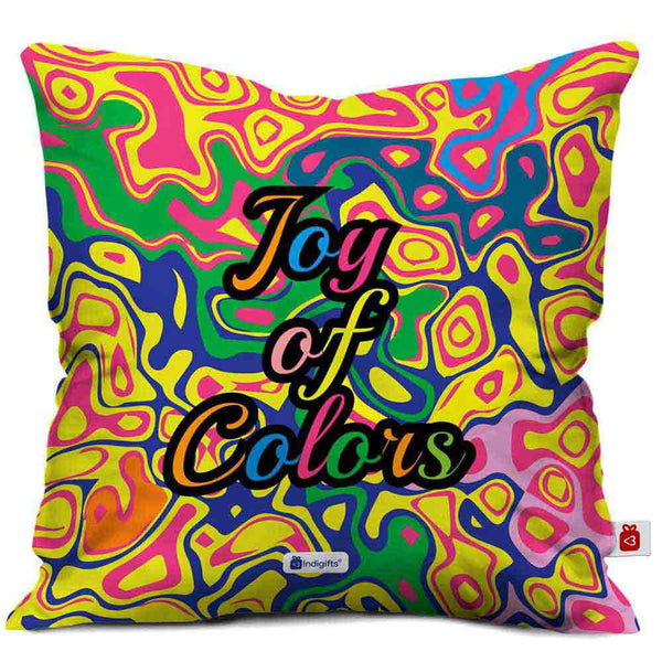 Colourful Abstract wavy bubble pattern Cushion Cover  Indigifts - With Love Cushion Cover