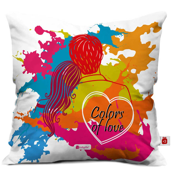 Colors of Love Cushion Cover  Indigifts - With Love Cushion Cover