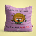 Indigifts Purple Cushion Cover for Lazy (Aalsi)