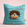 Indigifts Aqua Cushion Cover for Witty (Kamina)