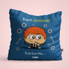 Indigifts Blue Cushion Cover for Jugaadu