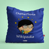 Indigifts Blue Cushion Cover for Intelligent