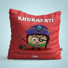 Indigifts Khurafati - Conquer the world with your superpowers Red Cushion
