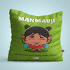Indigifts Manmauji - Well behaved girls rarely make history Green Cushion