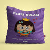 Indigifts Pyari Dulari - Nothing beats the charm I carry Purple Cushion