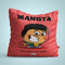 Indigifts Mangta - Aaj udhar kal nagad Red Cushion
