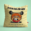 Indigifts Pehalwan - I love six pack abs Yellow Cushion