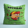 Indigifts Bhukkad - Nazar na lage Green Cushion