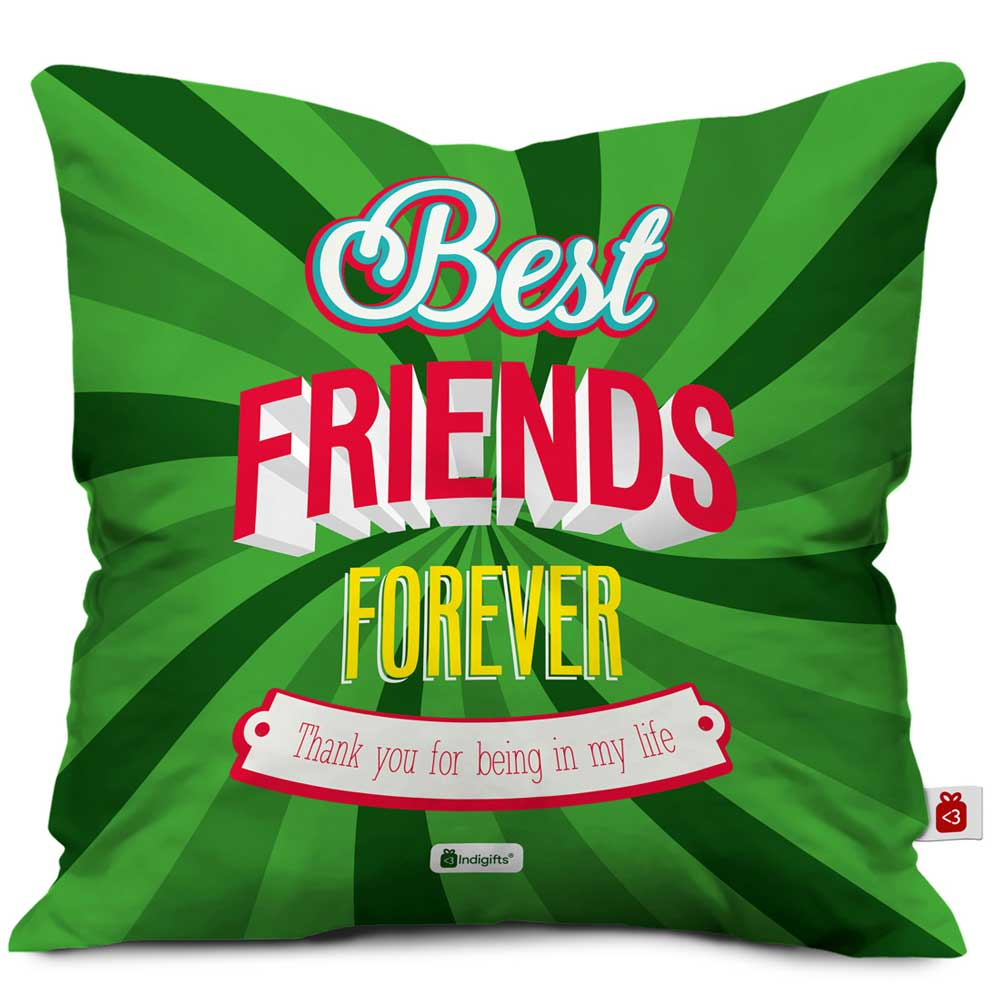 Indigifts BFF Green Cushion Cover