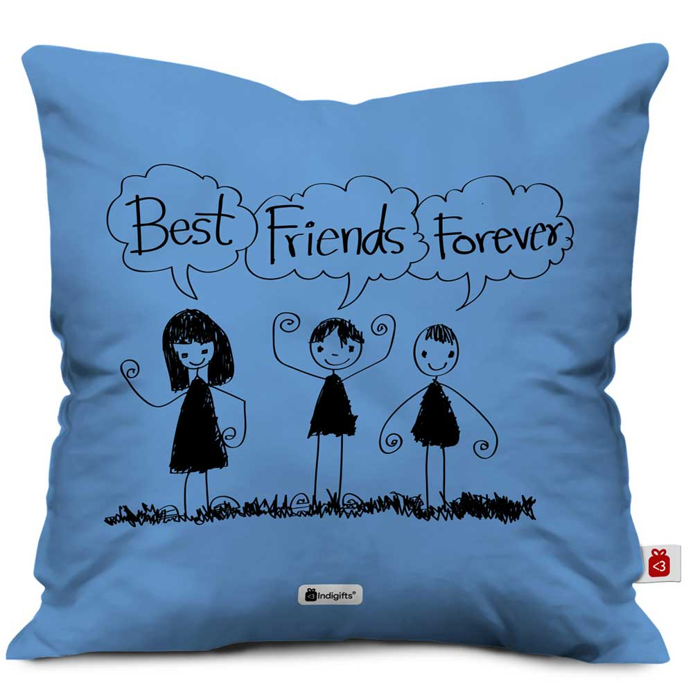 Best Friends Forever Light Blue Cushion Cover