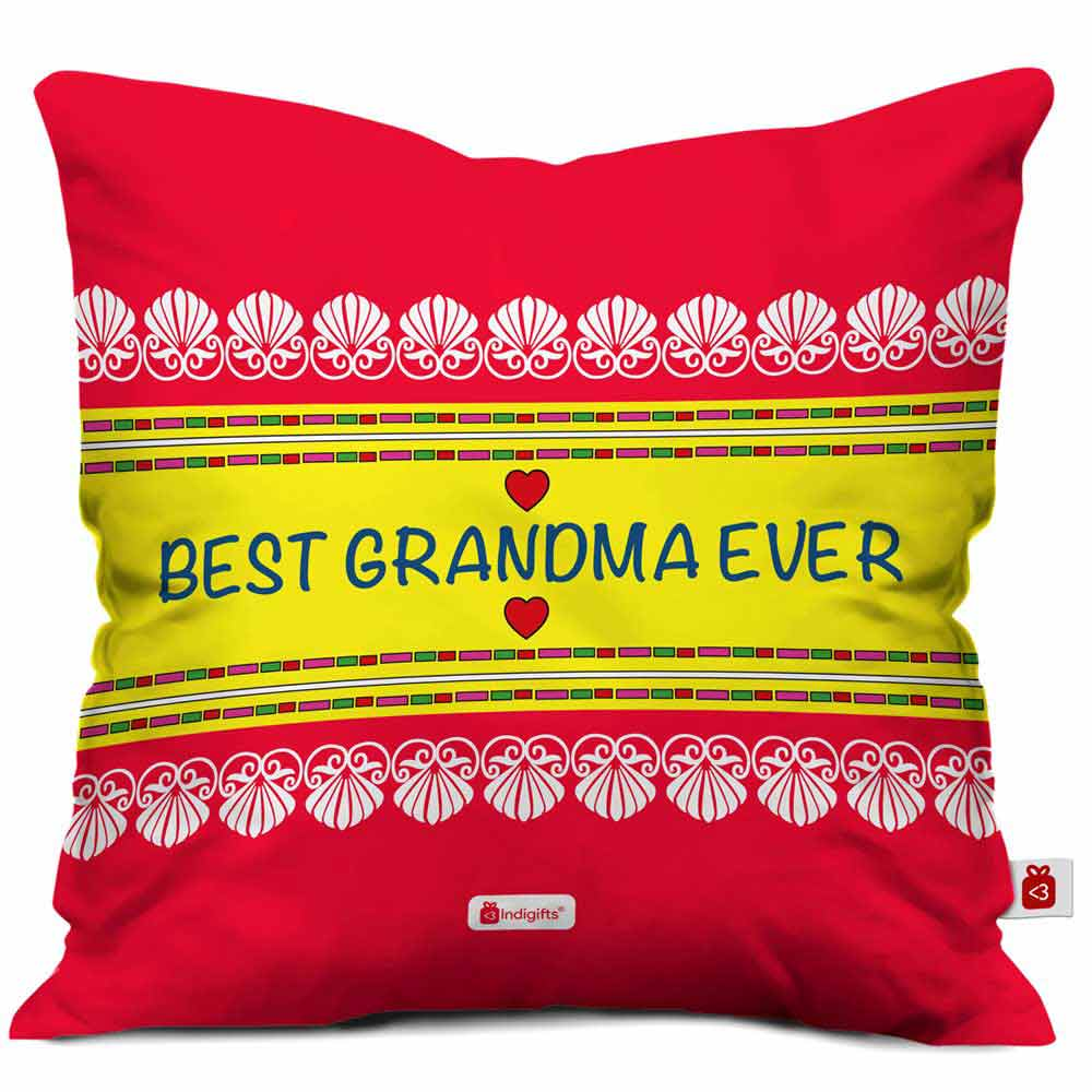 Best GrandMa Ever Lovely Red Cushion Cover