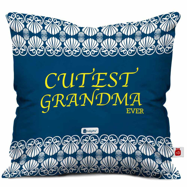 Cutest Grandma Ever Beautiful Blue Cushion Cover