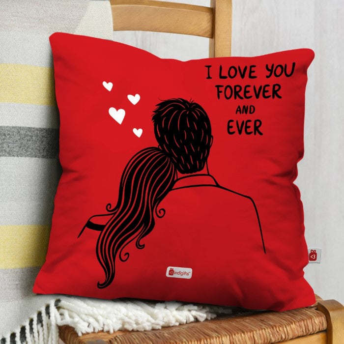 Indigifts I love You Forever & Ever Cushion Cover