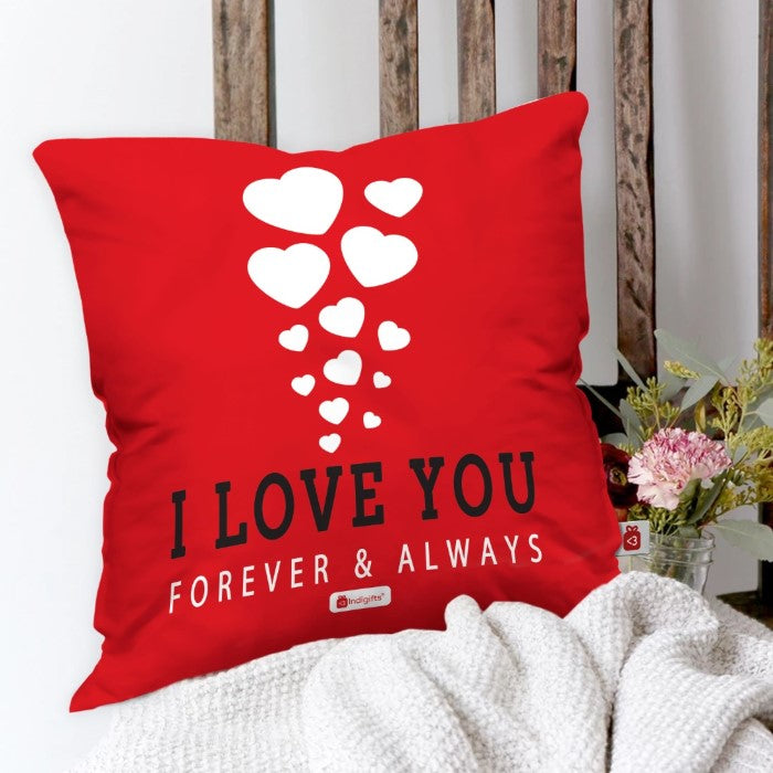 Indigifts Romantic Hearts Floating in Love Red Cushion Cover
