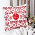 Indigifts Heart Abstract Geometric Pattern White Cushion Cover