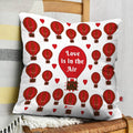 Indigifts Hot Air Balloons Pattern White Cushion Cover