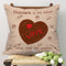 Indigifts Chocolate and Love Doddle Beige Cushion Cover