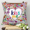 Indigifts Colourful Romantic Elements Multi Cushion Cover