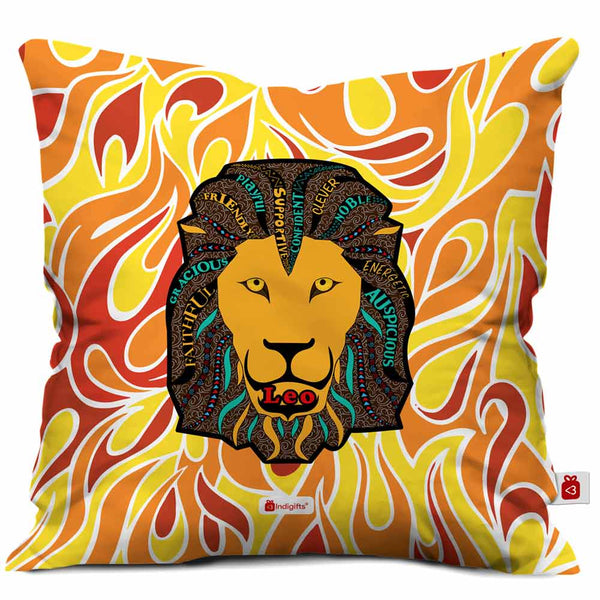 Leo Zodiac Multicolor Cushion Cover