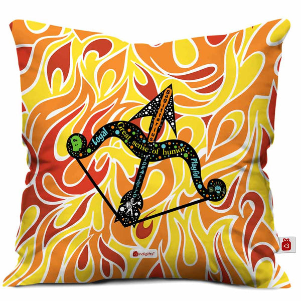 Sagittarius Zodiac Multicolor Cushion Cover