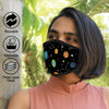 Galaxy Print Grey Anti-Pollution Nose Mask