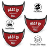 Mask ( Set of 3 ) Up and Chill Text Print Red Anti-Pollution Nose Mask ( Set of 3 )