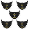 Keep Calm and Keep Distance Text Print Black Anti-Pollution Half Face Mask ( Set of 5 )