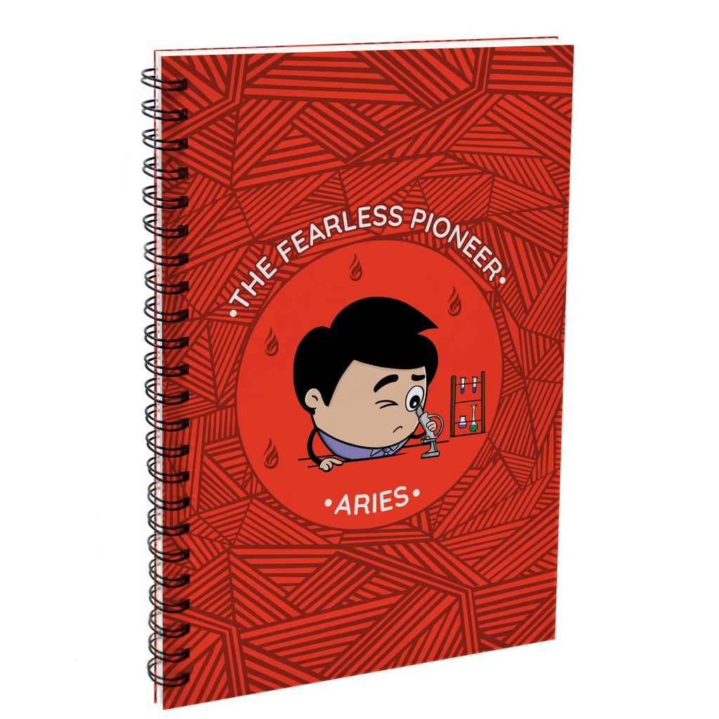 Indigifts Aries The Fearless Pioneer Red Diary