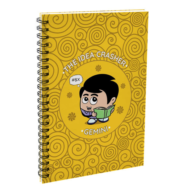 Indigifts Gemini The Idea Crasher Yellow Diary