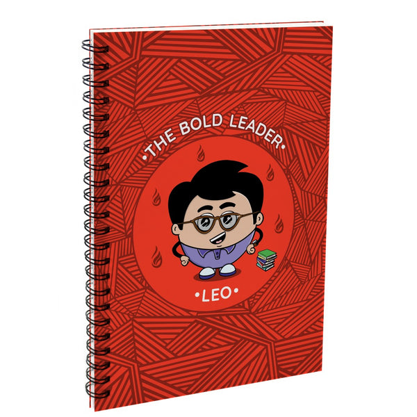 Leo The Bold Leader Red Diary
