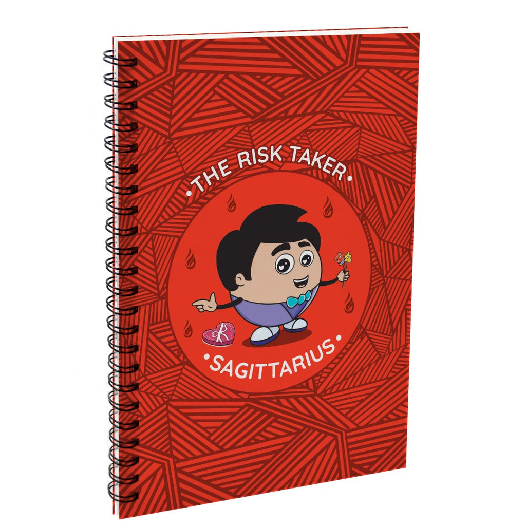 Sagittarius The Risk Taker Red Diary