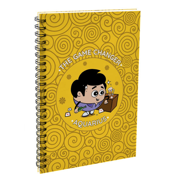 Indigifts Aquarius The Game Changer Yellow Diary