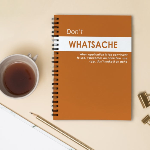 Indigifts Don't Whatsache Orange Diary