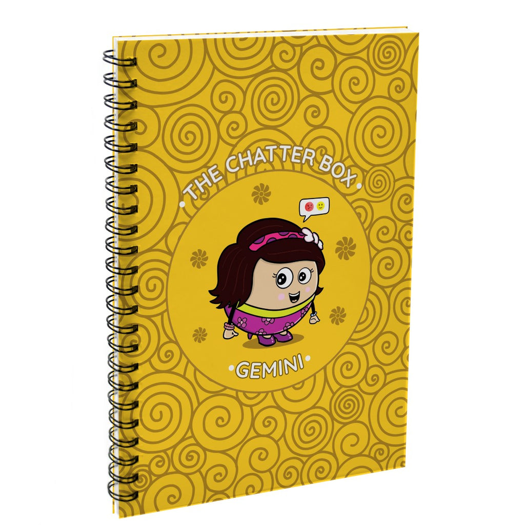 Indigifts Gemini The Chatter box Yellow Diary