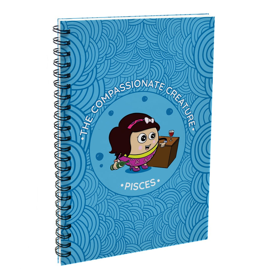 Indigifts Pisces The Compassionate Creature Blue Diary