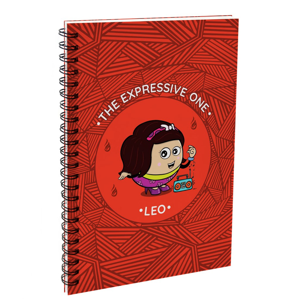 Leo The Expressive One Red Diary