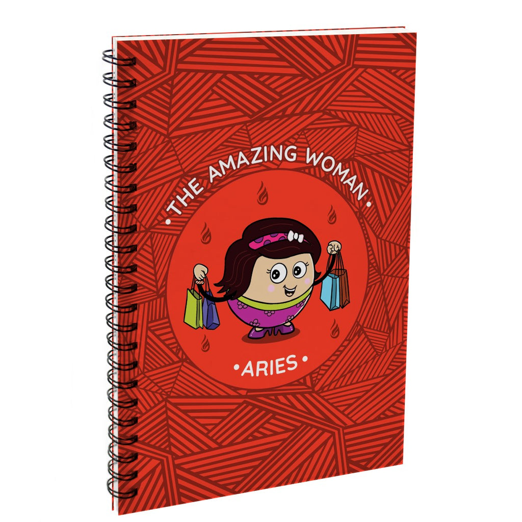 Indigifts Aries The Amazing Woman Red Diary