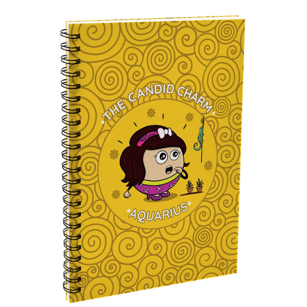 Aquarius The Candid Charm Yellow Diary