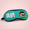 "Funny Birthday Gift for Brother Manmoji Printed Sleeping Eye Mask For Boys 8.6"" x 4"" -  Friendship Gifts For Best Friend, Brother, Boy, Sleeping Mask For Boys, Funky Eye Cover"