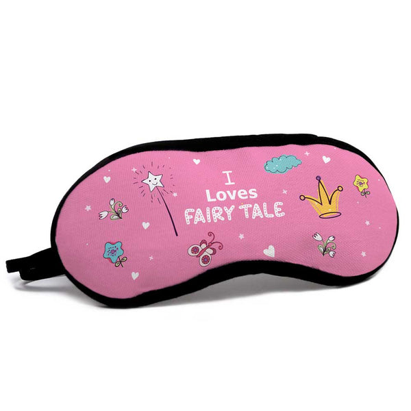 I Love Fairy Tale Quote Pink Eye Mask