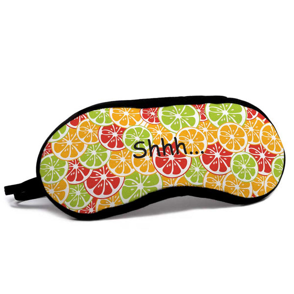 Colorful fruits patterns on eye mask