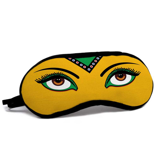 indigifts Beautiful Deep Eyes Yellow Eye Mask