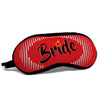 indigifts Bride Quote Halftone Dotted Retro Background Red Eye Mask