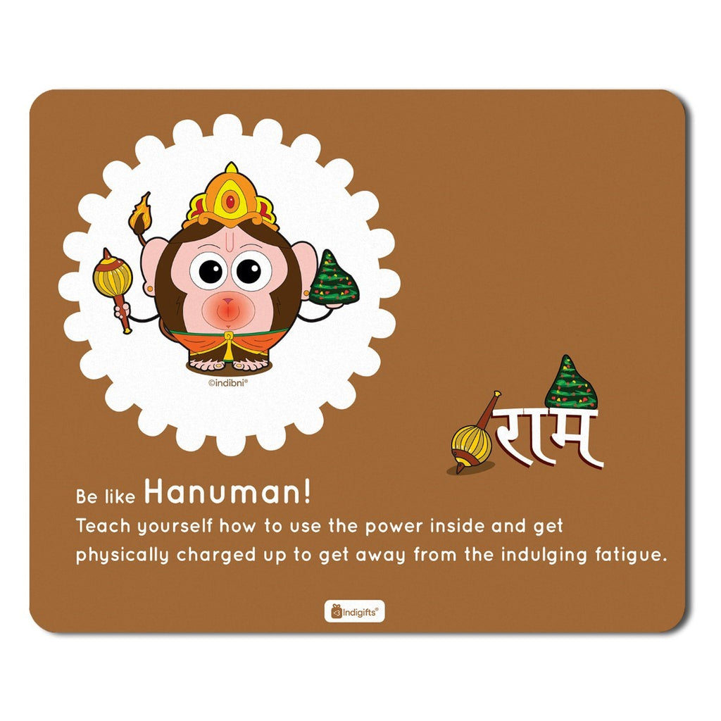 Mousepad for Laptop Be like Hanuman Printed Brown Mouse Pad  8.5x7 inches - Printed Mouse Pad ,Religious Gift Items,India Souvenir Gifts