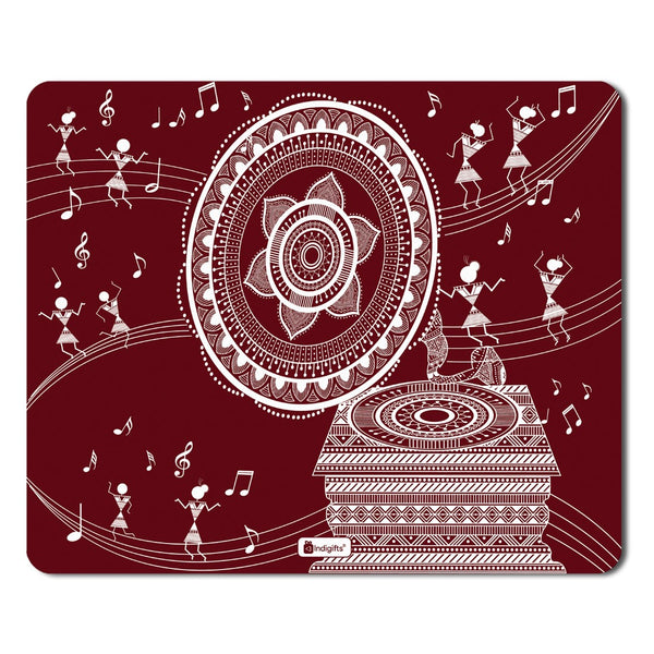 Diwali Gift Items  Printed Maroon Mouse Pad  8.5x7 inches | Diwali Gift Items, Digital Print Items, Mousepad for Gift